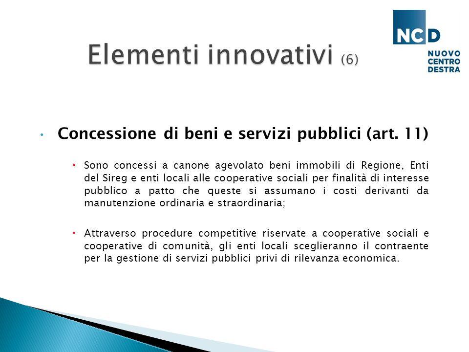 Concessione di beni e servizi pubblici (art.