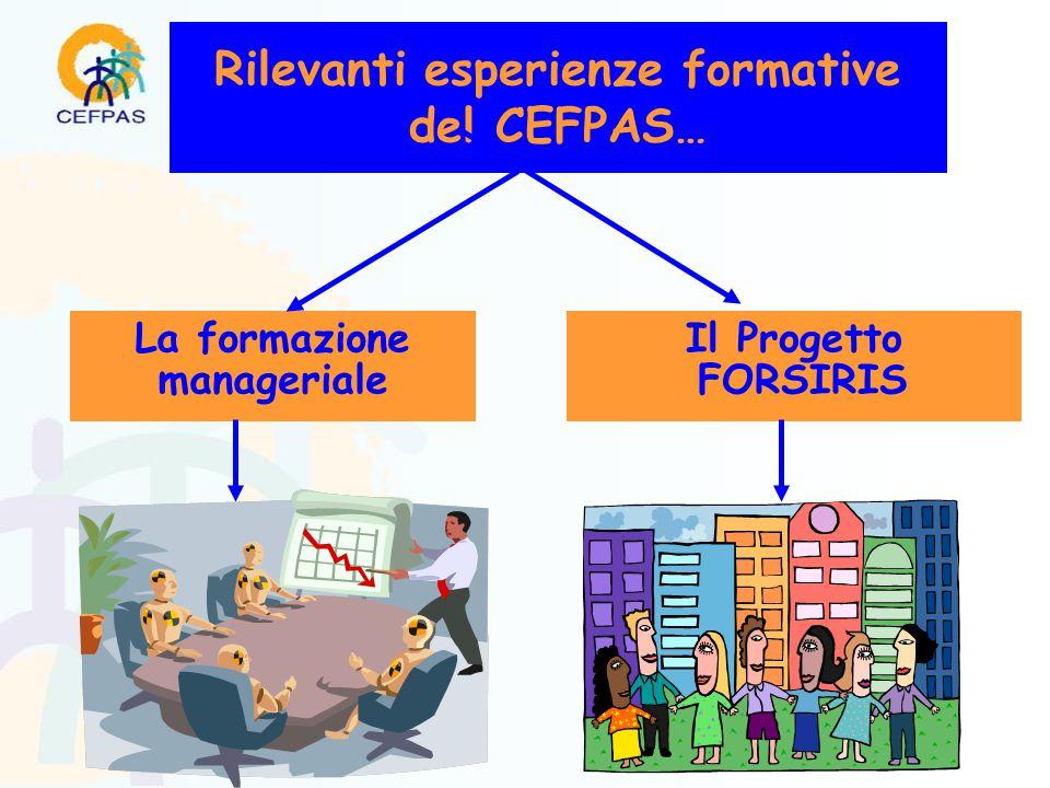 Rilevanti esperienze formative del CEFPAS… La formazione manageriale Il Progetto FORSIRIS
