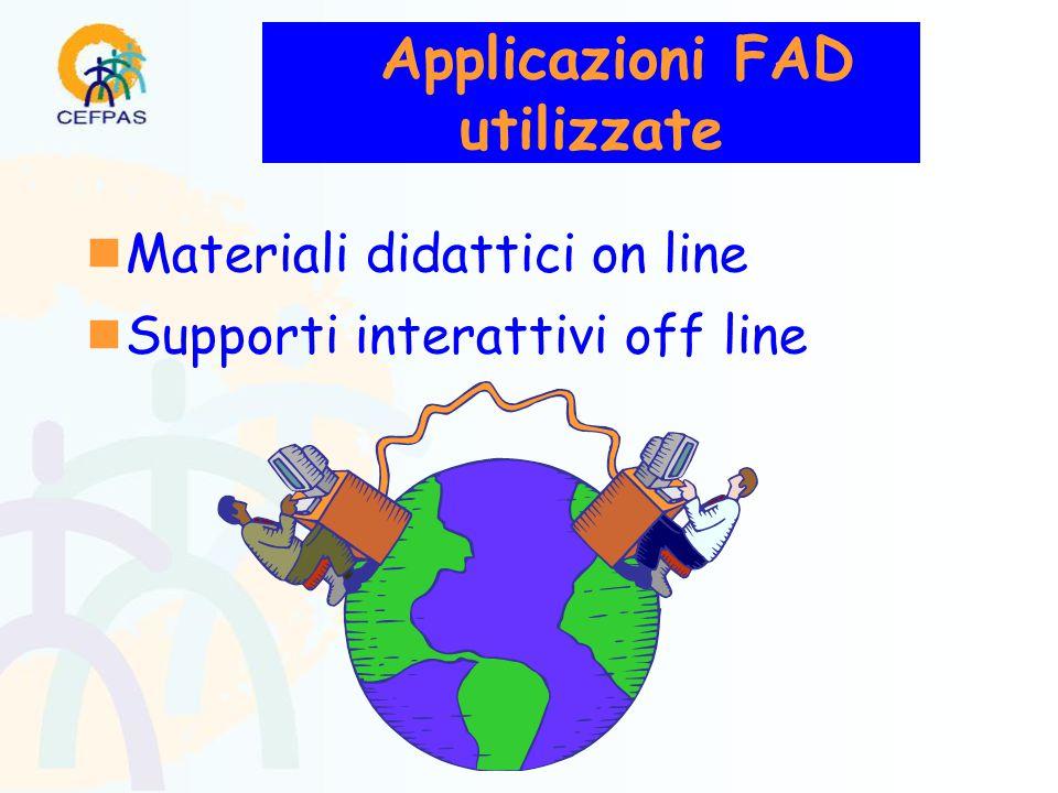 Applicazioni FAD utilizzate  Materiali didattici on line  Supporti interattivi off line