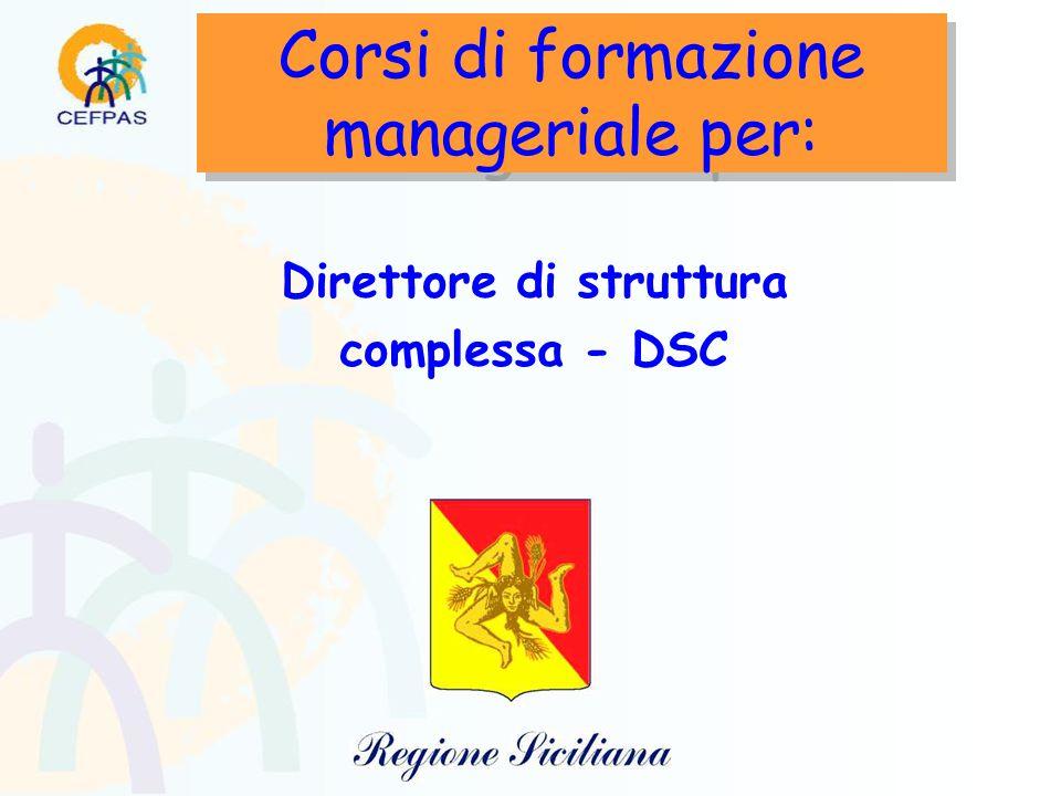 Corsi di formazione manageriale per: Direttore di struttura complessa - DSC