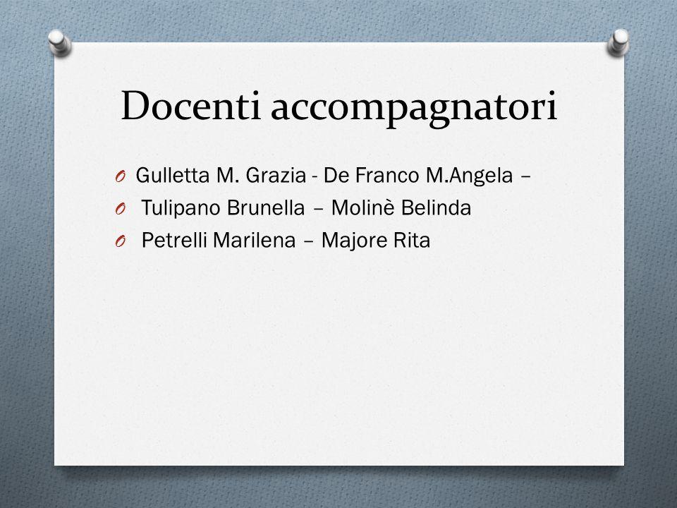 Docenti accompagnatori O Gulletta M.