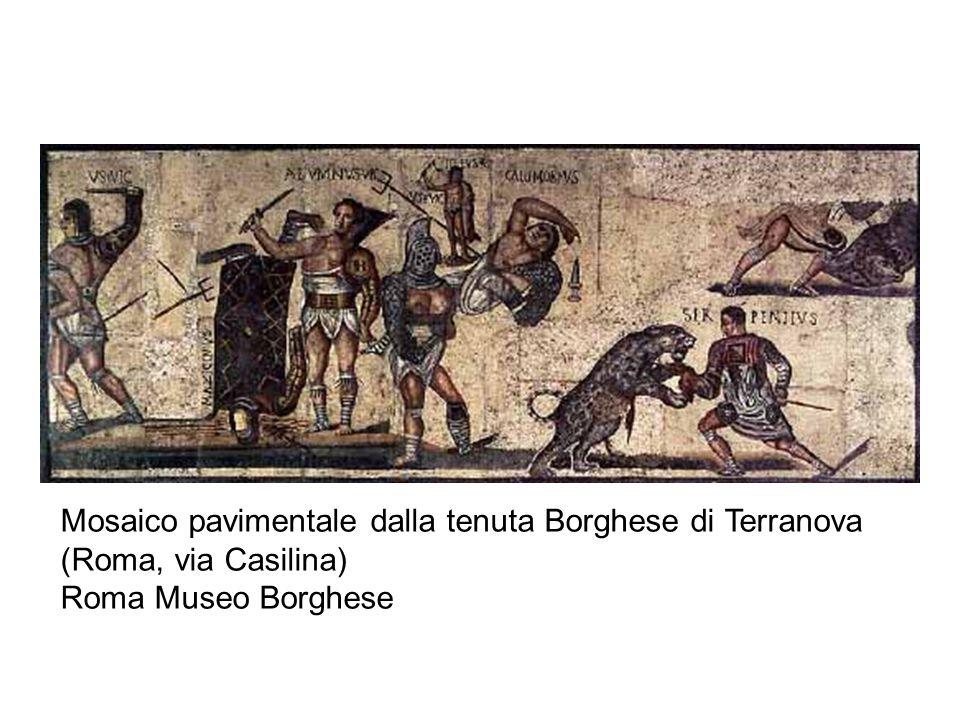 Mosaico pavimentale dalla tenuta Borghese di Terranova (Roma, via Casilina) Roma Museo Borghese