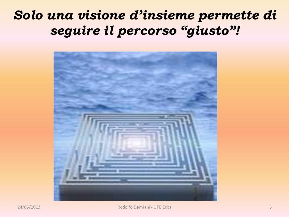 """Solo una visione d'insieme permette di seguire il percorso """"giusto""""! 24/05/2013Rodolfo Damiani - UTE Erba5"""