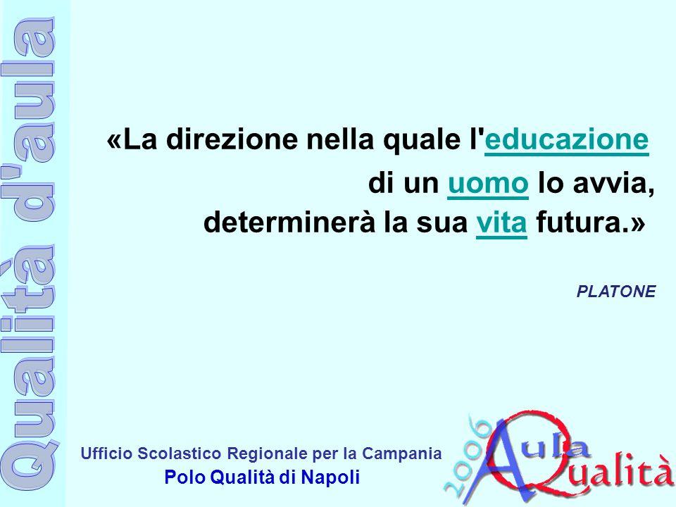 Ufficio Scolastico Regionale per la Campania Polo Qualità di Napoli «La direzione nella quale l'educazione educazione di un uomo lo avvia, determinerà