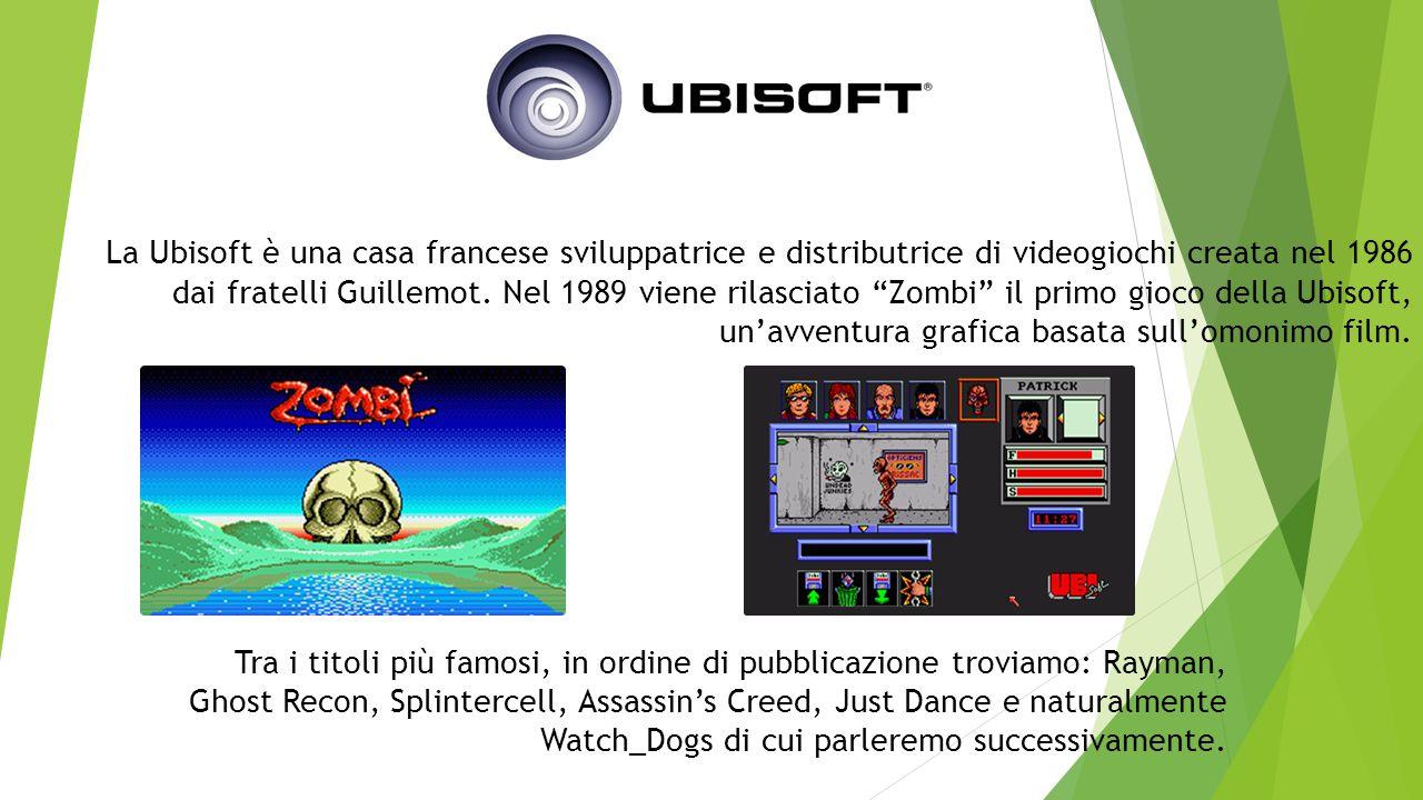 La Ubisoft è una casa francese sviluppatrice e distributrice di videogiochi creata nel 1986 dai fratelli Guillemot.