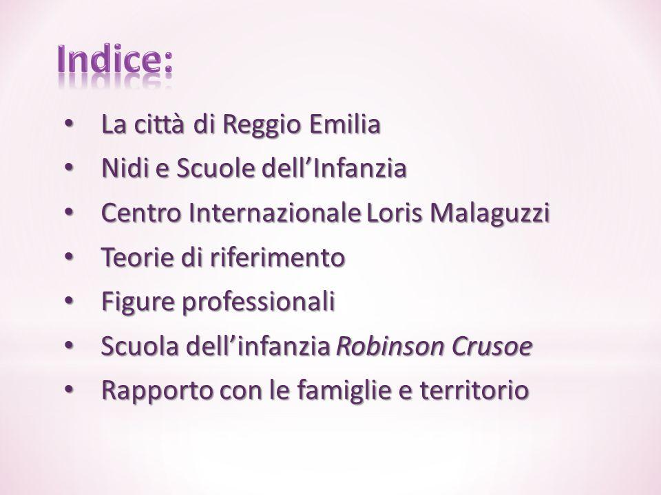 La città di Reggio Emilia La città di Reggio Emilia Nidi e Scuole dell'Infanzia Nidi e Scuole dell'Infanzia Centro Internazionale Loris Malaguzzi Cent