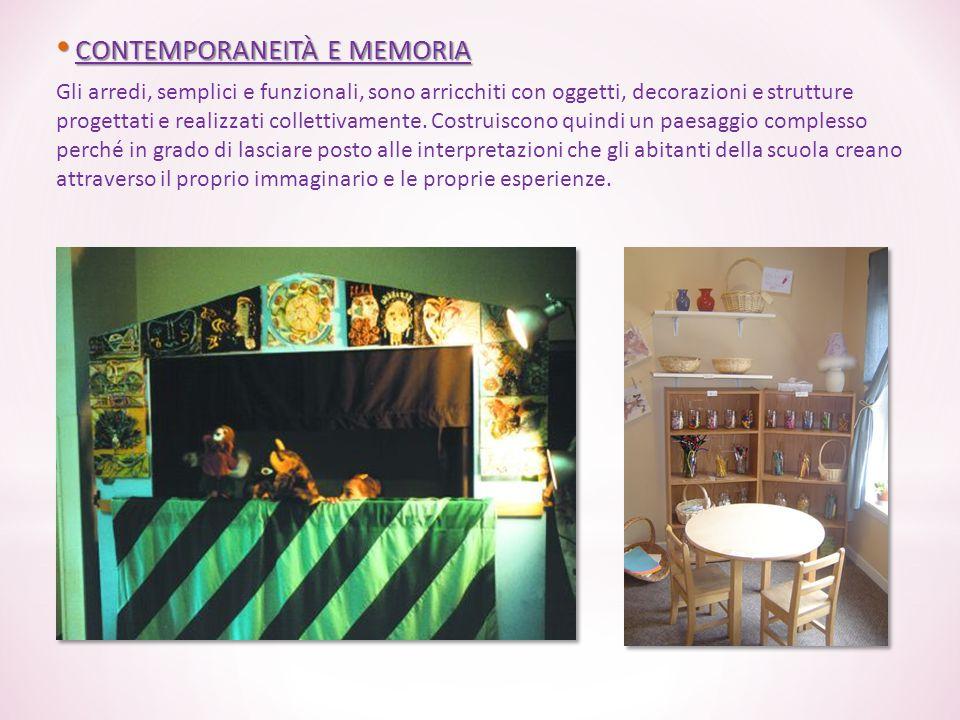 CONTEMPORANEITÀ E MEMORIA CONTEMPORANEITÀ E MEMORIA Gli arredi, semplici e funzionali, sono arricchiti con oggetti, decorazioni e strutture progettati