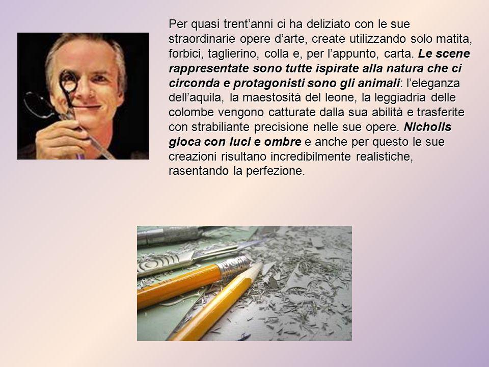 Per quasi trent'anni ci ha deliziato con le sue straordinarie opere d'arte, create utilizzando solo matita, forbici, taglierino, colla e, per l'appunto, carta.