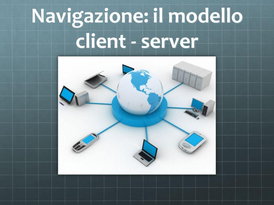 Navigazione: il modello client - server