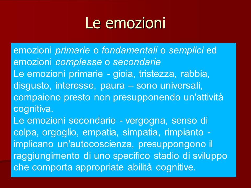 Le emozioni Un'altra distinzione è tra emozioni positive e negative.