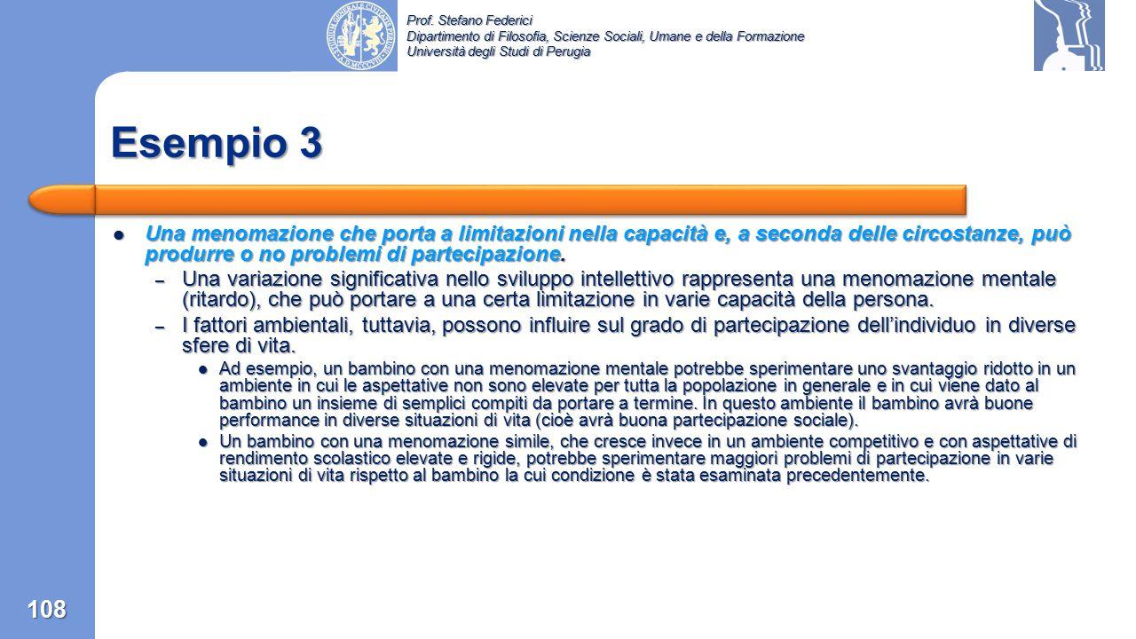 Prof. Stefano Federici Dipartimento di Filosofia, Scienze Sociali, Umane e della Formazione Università degli Studi di Perugia Una menomazione che non