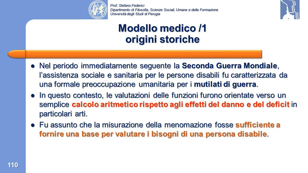 Prof. Stefano Federici Dipartimento di Filosofia, Scienze Sociali, Umane e della Formazione Università degli Studi di Perugia Appendice 1: Il modello
