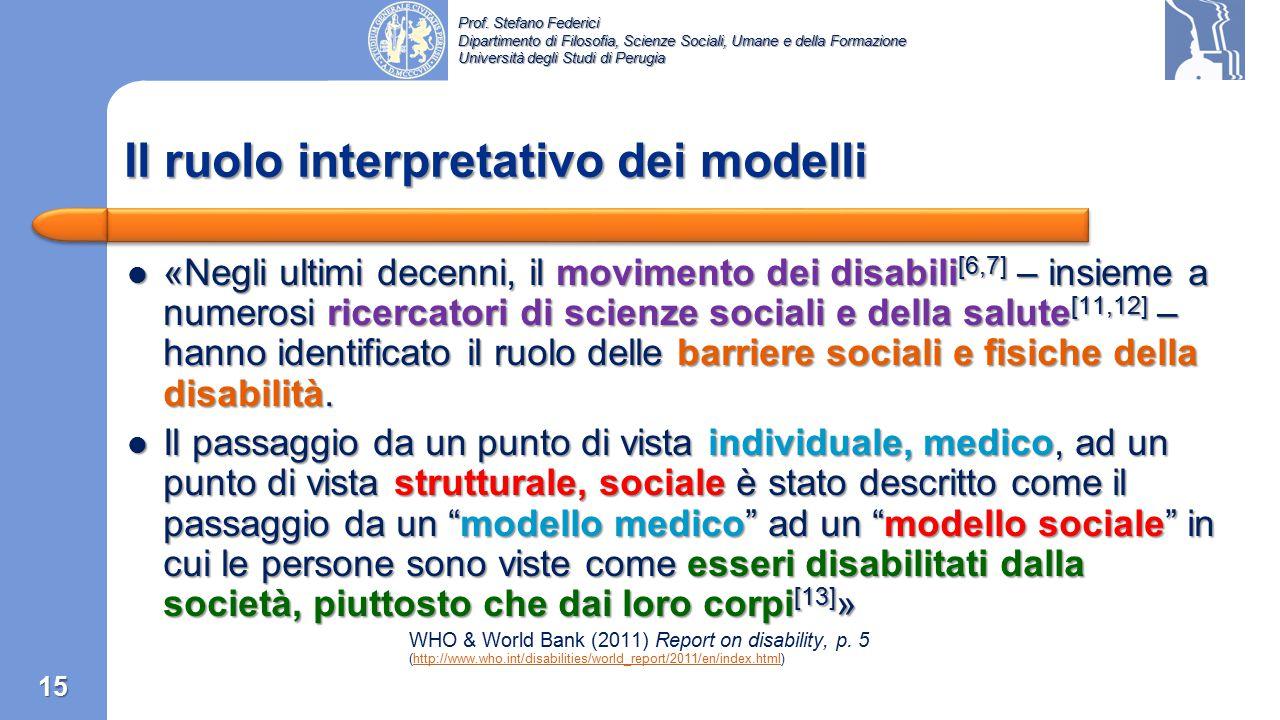 Prof. Stefano Federici Dipartimento di Filosofia, Scienze Sociali, Umane e della Formazione Università degli Studi di Perugia «La disabilità è parte d