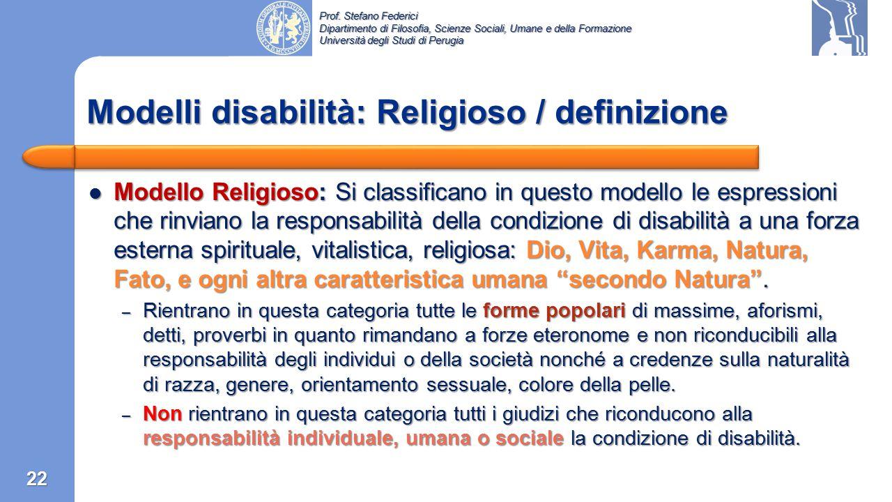 Prof. Stefano Federici Dipartimento di Filosofia, Scienze Sociali, Umane e della Formazione Università degli Studi di Perugia Modello Estetico: Si cla