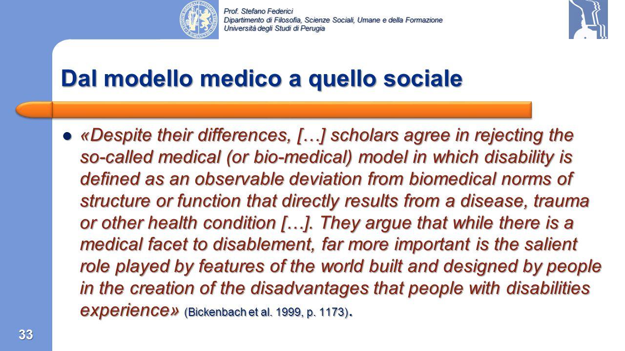 Prof. Stefano Federici Dipartimento di Filosofia, Scienze Sociali, Umane e della Formazione Università degli Studi di Perugia Capitolo 3: La prima cla