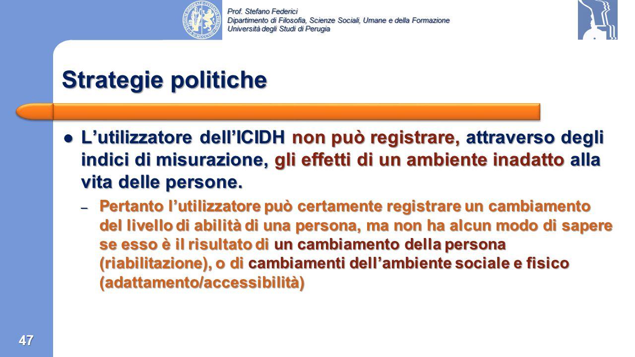 Prof. Stefano Federici Dipartimento di Filosofia, Scienze Sociali, Umane e della Formazione Università degli Studi di Perugia Punti controversi dell'I