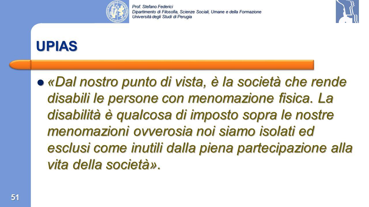 Prof. Stefano Federici Dipartimento di Filosofia, Scienze Sociali, Umane e della Formazione Università degli Studi di Perugia Un anno dopo la pubblica