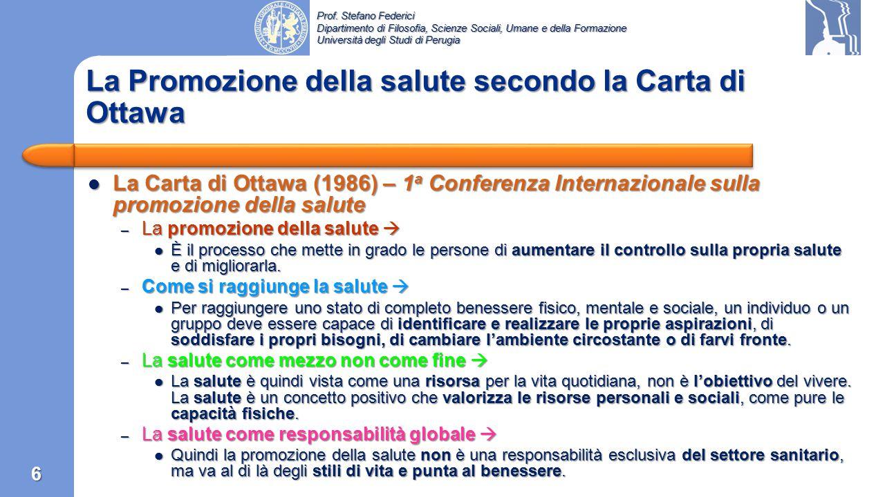 Prof. Stefano Federici Dipartimento di Filosofia, Scienze Sociali, Umane e della Formazione Università degli Studi di Perugia Costituzione dell'Organi