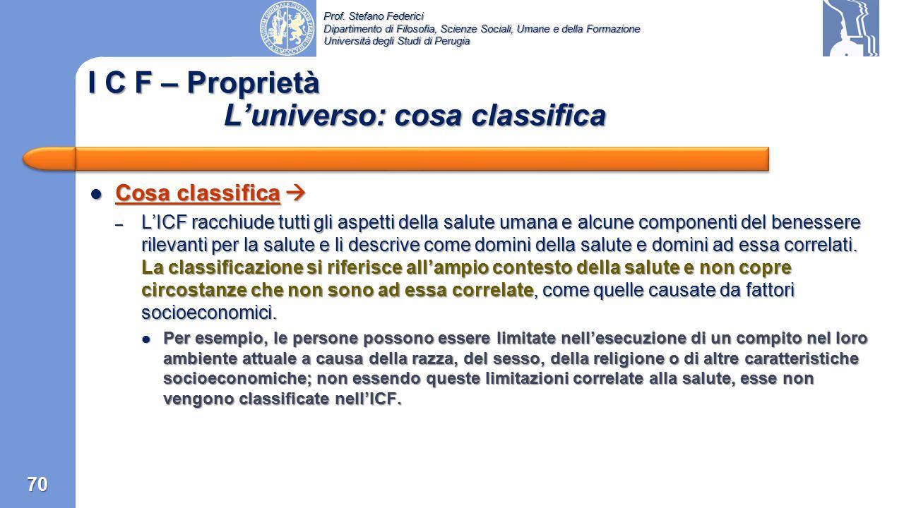 Prof. Stefano Federici Dipartimento di Filosofia, Scienze Sociali, Umane e della Formazione Università degli Studi di Perugia I C F – Introduzione Le