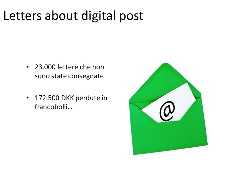 Letters about digital post 23.000 lettere che non sono state consegnate 172.500 DKK perdute in francobolli…