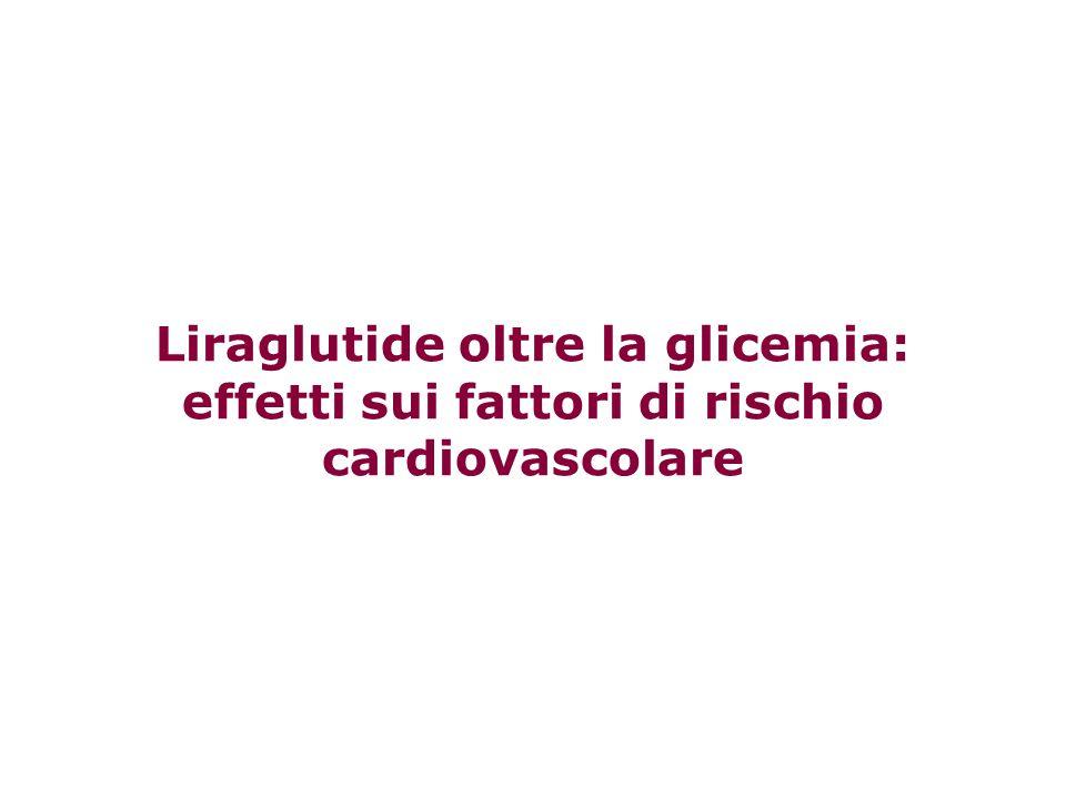 Liraglutide oltre la glicemia: effetti sui fattori di rischio cardiovascolare