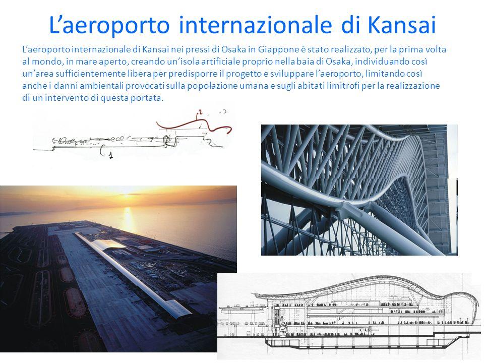 L'aeroporto internazionale di Kansai L'aeroporto internazionale di Kansai nei pressi di Osaka in Giappone è stato realizzato, per la prima volta al mo