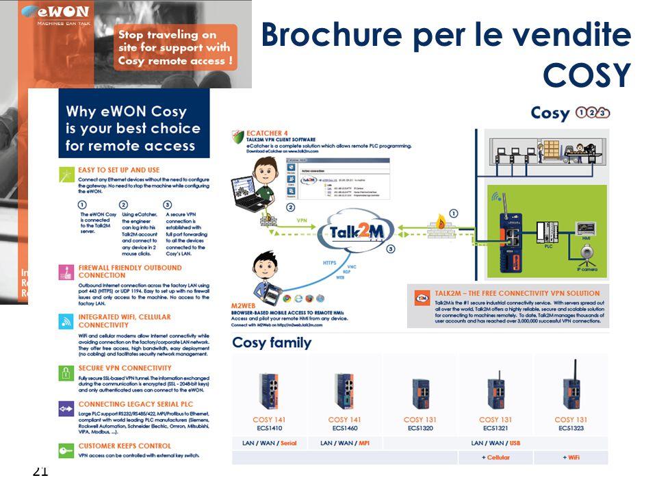 21 Brochure per le vendite COSY