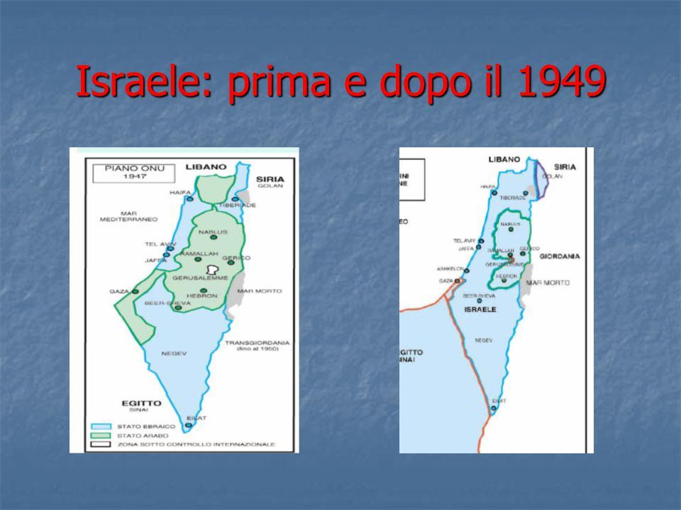 Israele: prima e dopo il 1949