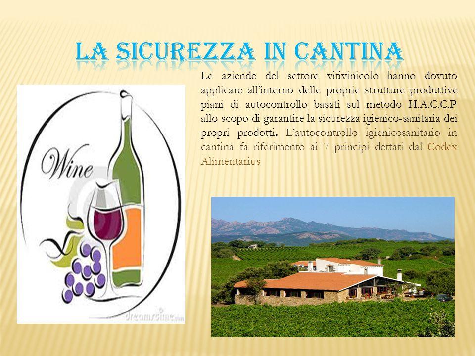 Le aziende del settore vitivinicolo hanno dovuto applicare all'interno delle proprie strutture produttive piani di autocontrollo basati sul metodo H.A