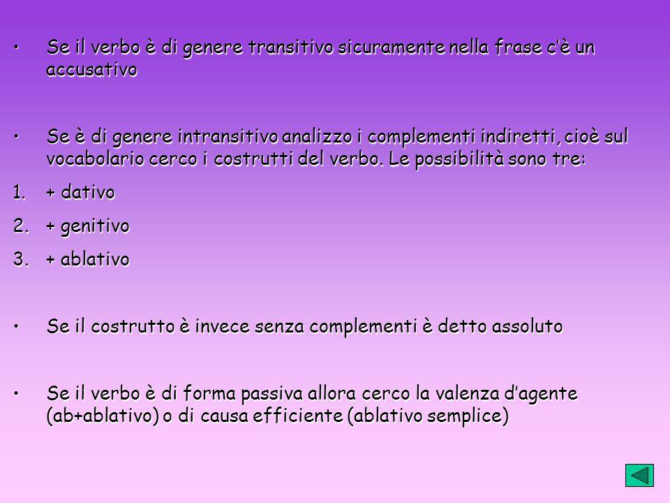 4. Una volta trovato il costrutto primario, cerco le valenze secondarie 5. Riordino la frase secondo lo schema logico italiano, ma mantenendo la frase
