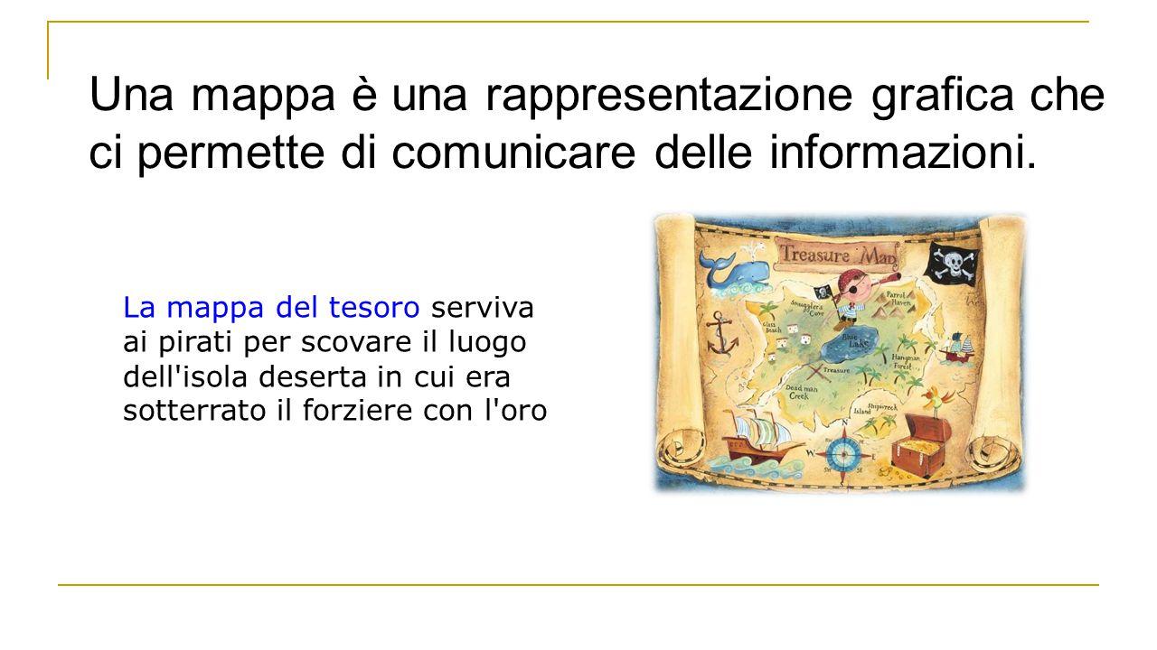 Una mappa è una rappresentazione grafica che ci permette di comunicare delle informazioni. La mappa del tesoro serviva ai pirati per scovare il luogo