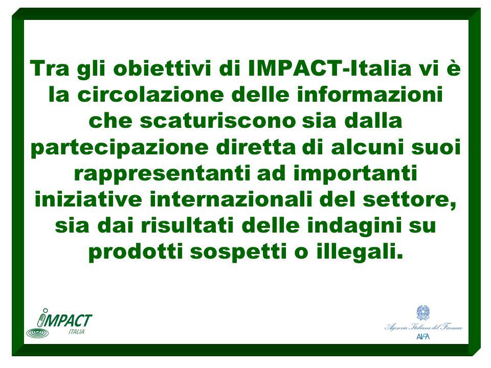 Tra gli obiettivi di IMPACT-Italia vi è la circolazione delle informazioni che scaturiscono sia dalla partecipazione diretta di alcuni suoi rappresent