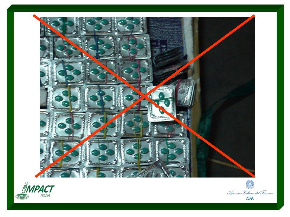Campagna di campionamento e analisi di medicinali sospetti da reti illegali (Internet) Sviluppo della campagna di informazione al pubblico sui rischi degli acquisti da reti illegali Corsi di formazione per investigatori a livello nazionale (NAS) e internazionale (Consiglio d'Europa/EDQM) Sviluppo delle procedure per le investigazioni sui medicinali contraffatti IMPACT ITALIA I risultati fino a oggi