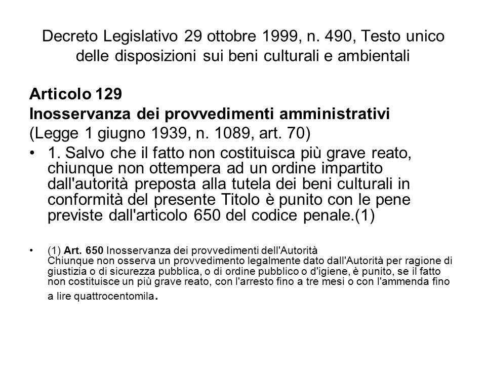 Decreto Legislativo 29 ottobre 1999, n.
