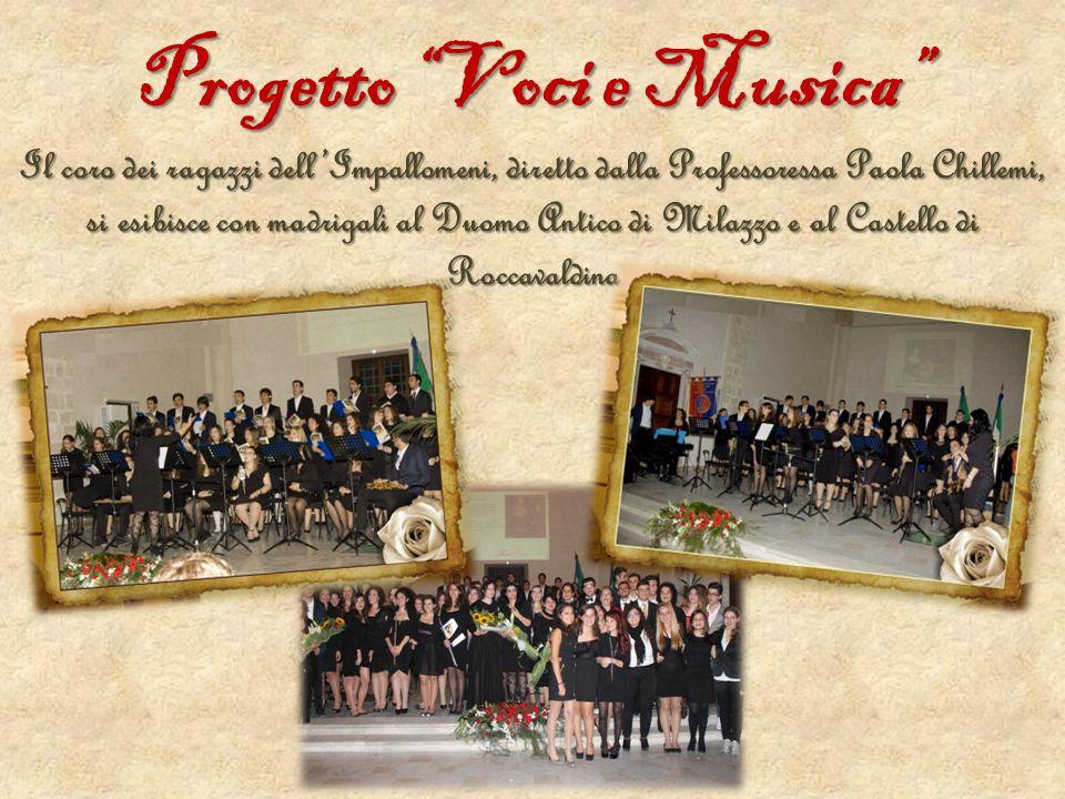 """Progetto """"Voci e Musica"""" Il coro dei ragazzi dell'Impallomeni, diretto dalla Professoressa Paola Chillemi, si esibisce con madrigali al Duomo Antico d"""