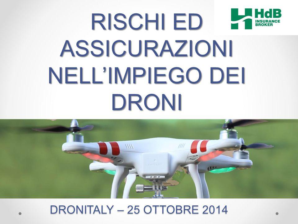 RISCHI ED ASSICURAZIONI NELL'IMPIEGO DEI DRONI DRONITALY – 25 OTTOBRE 2014