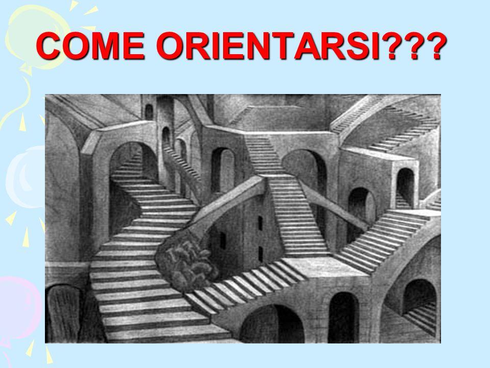 COME ORIENTARSI???