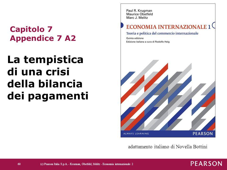 (c) Pearson Italia S.p.A. - Krurman, Obstfeld, Melitz - Economia internazionale 260 Capitolo 7 Appendice 7 A2 La tempistica di una crisi della bilanci