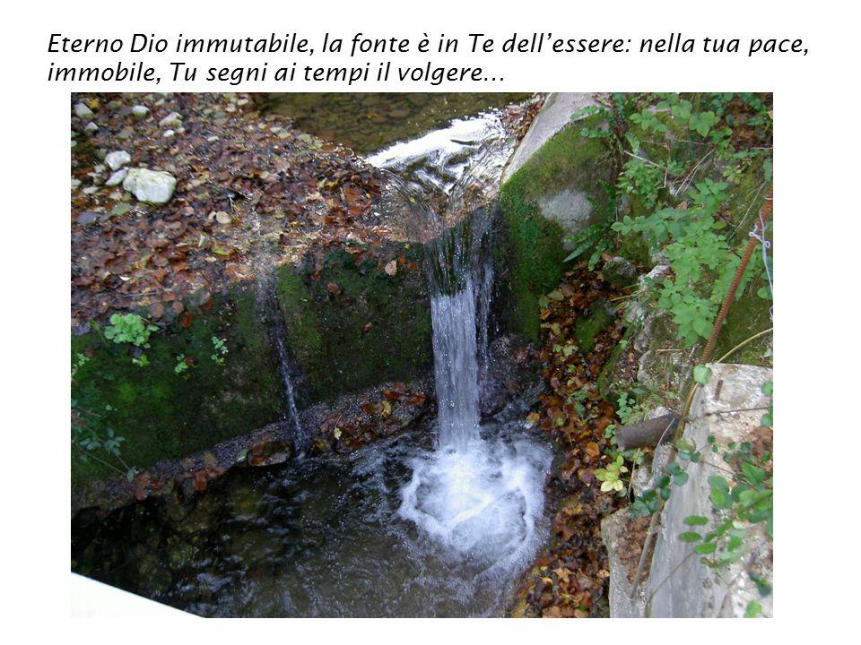 Eterno Dio immutabile, la fonte è in Te dell'essere: nella tua pace, immobile, Tu segni ai tempi il volgere…