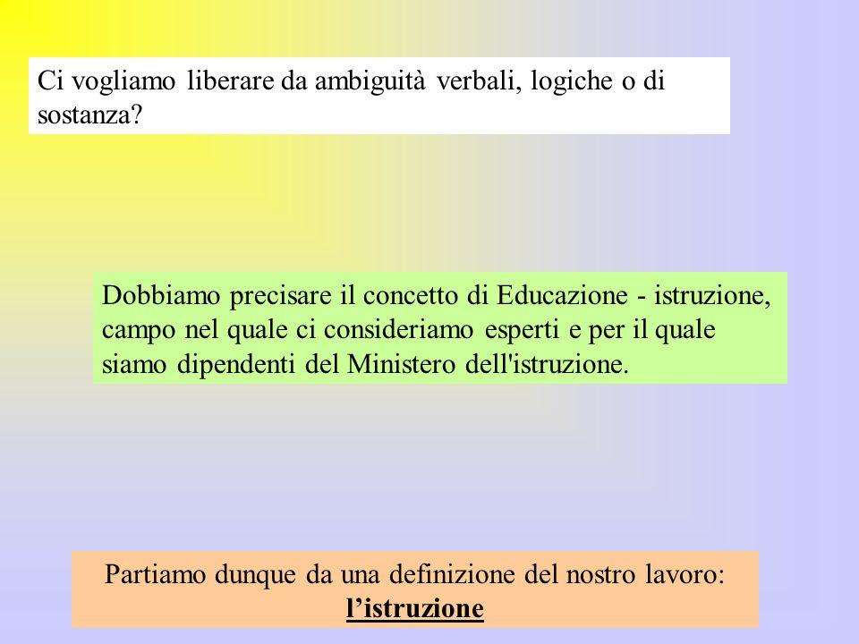 Possiamo definire l istruzione progetto .Titolare del progetto è lo Stato.