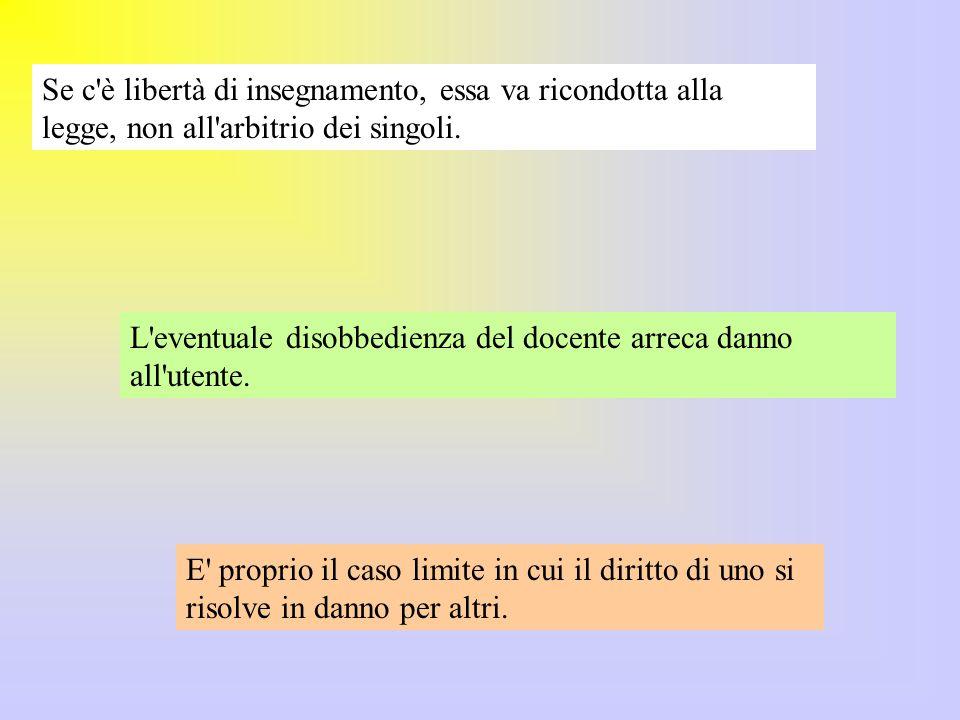 La sperimentazione Moratti è servita a sbloccare parzialmente una situazione con grandi resistenze, dovute soprattutto a tempi estremamente contratti.