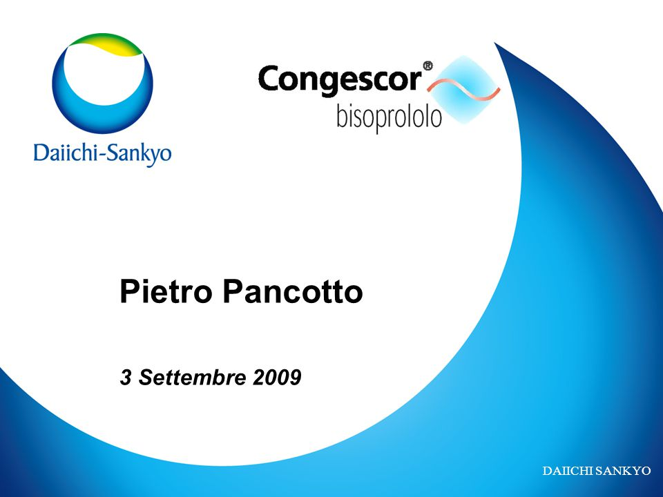 DAIICHI SANKYO Pietro Pancotto 3 Settembre 2009