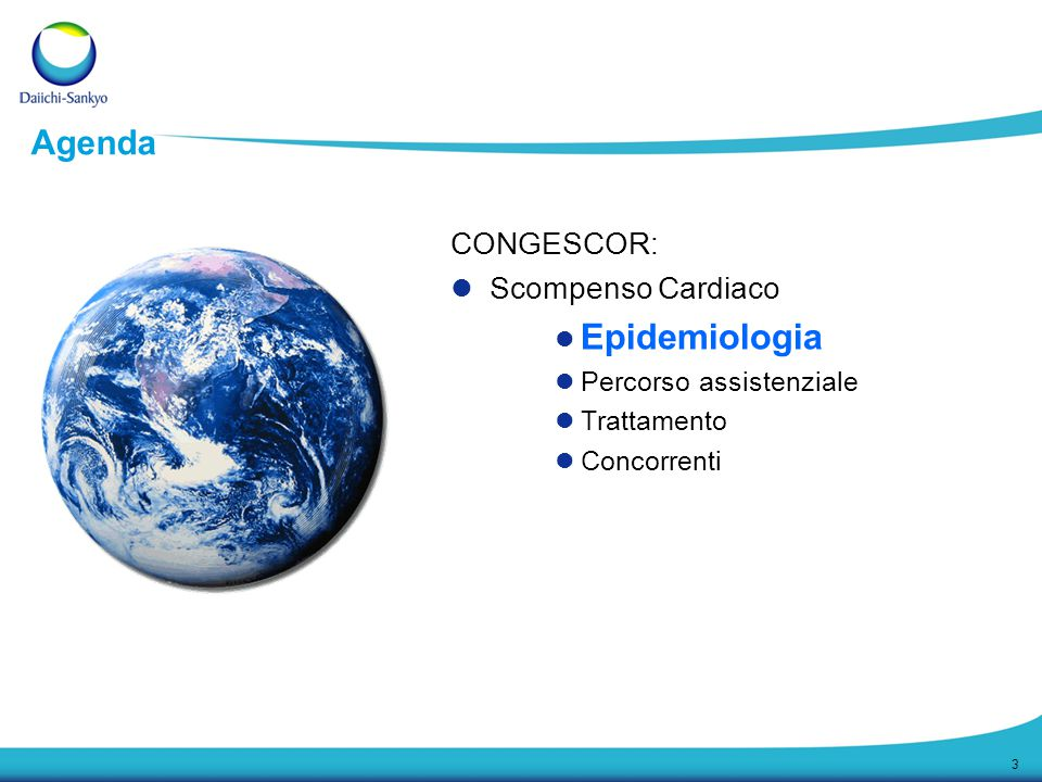 3 CONGESCOR: Scompenso Cardiaco Epidemiologia Percorso assistenziale Trattamento Concorrenti