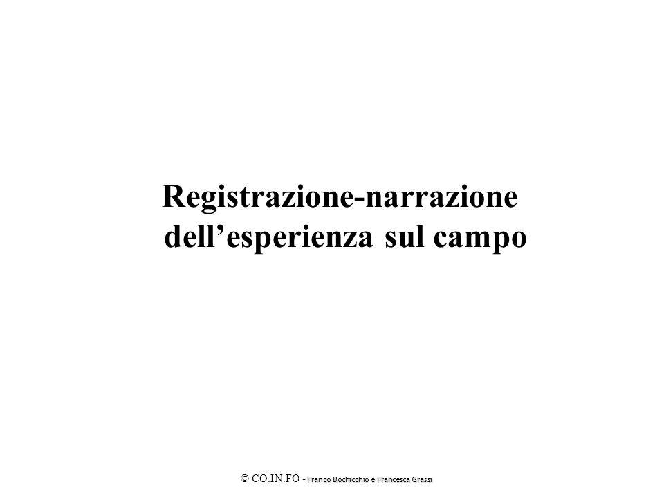 Franco Bochicchio e Francesca Grassi © CO.IN.FO - Franco Bochicchio e Francesca Grassi Registrazione-narrazione dell'esperienza sul campo