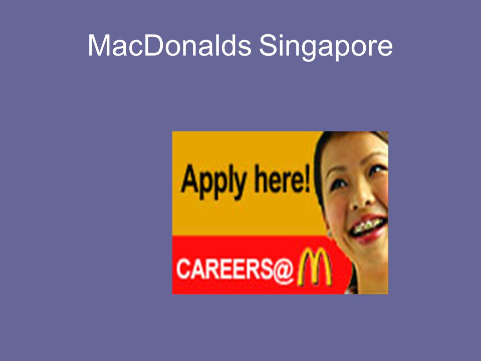 MacDonalds Singapore
