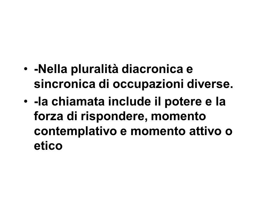 -Nella pluralità diacronica e sincronica di occupazioni diverse.