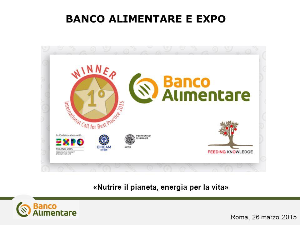 BANCO ALIMENTARE E EXPO «Nutrire il pianeta, energia per la vita» Roma, 26 marzo 2015