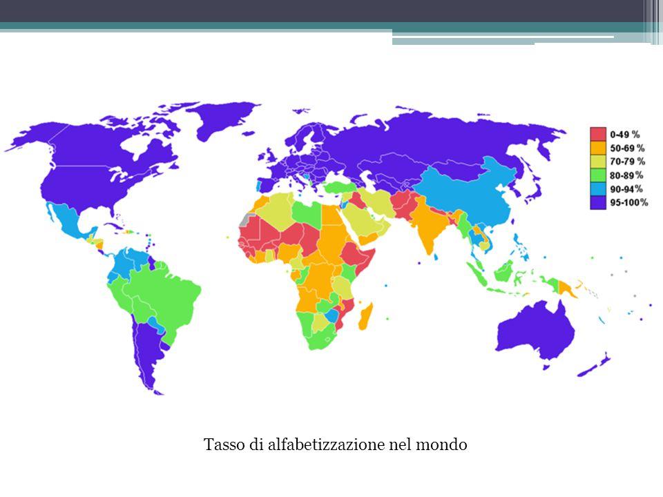 Tasso di alfabetizzazione nel mondo