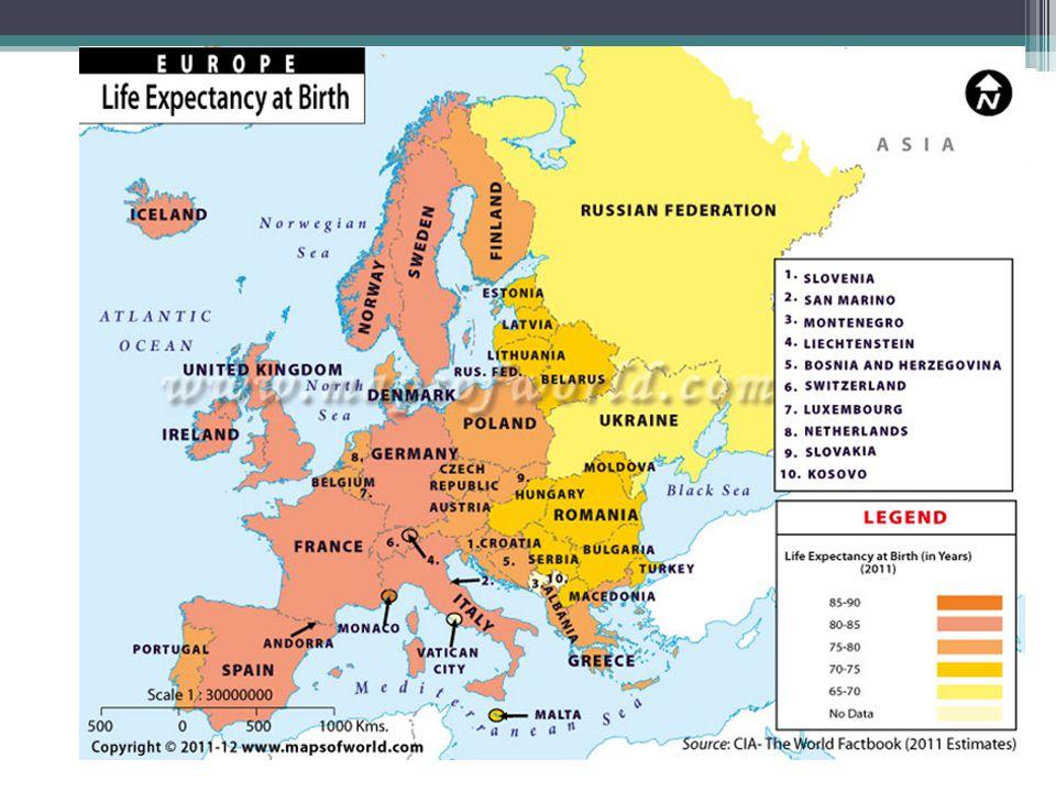 CRESCITA DELLA POPOLAZIONE EUROPEA 2000 anni fa: più di 30 milioni di abitanti in Europa.
