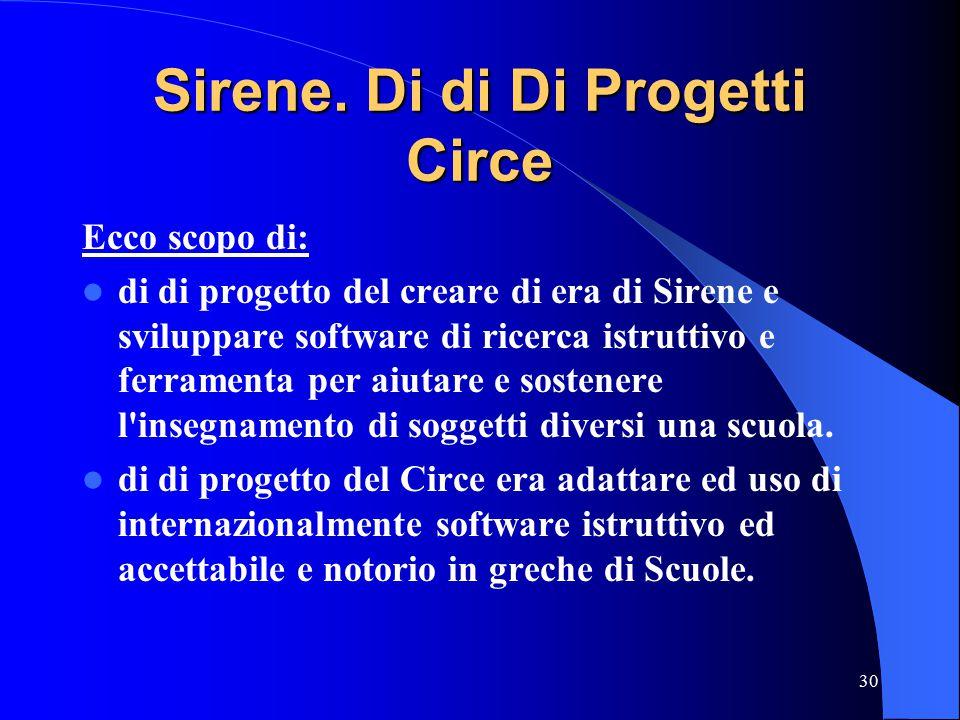 30 Sirene.